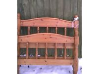 **REDUCED** Solid Pine single bed with mattress