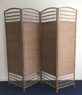 Knitted Room Divider 4 Panels Folding Screen Indooroopilly Brisbane South West Preview