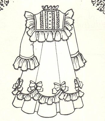 "Doll clothes SEWING PATTERN fits 17 18"" doll Vintage fashion dress outfit 953"