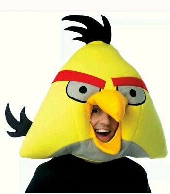 Angry Birds Costume For Adults (Angry Birds Adult NEW Yellow Bird Head Mask. Great For Any Occasion)
