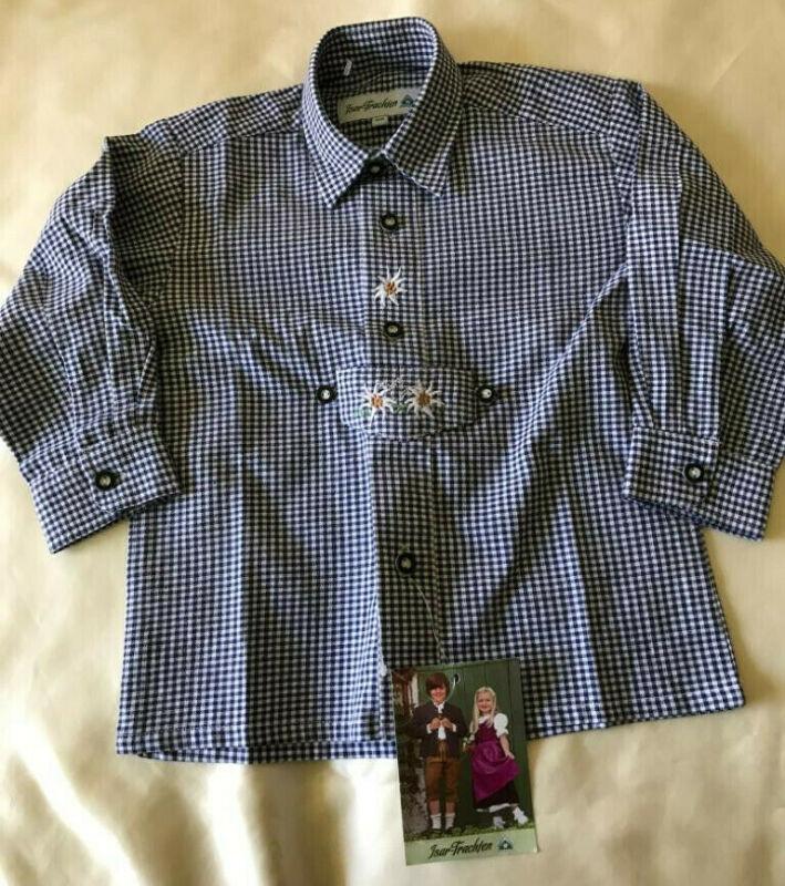100% Cotton Isar Trachten Checkered Boy
