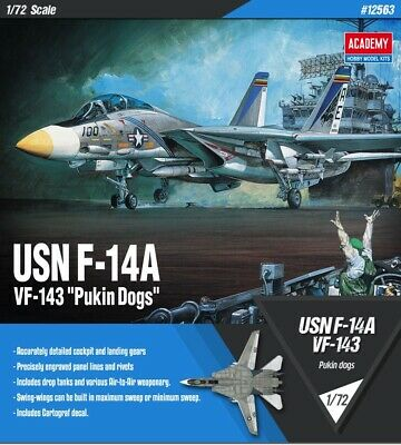 [Academy] 1/72 USN F-14A VF-143 PUKIN DOGS US Navy Aircraft Plastic model 12563
