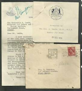 1950s Autograph Sydney Parliament NSW Waverley Mayor MBE Bondi Port Macquarie Port Macquarie City Preview