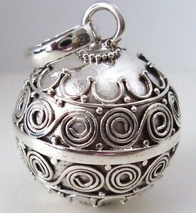 Small Bali 925 Sterling Silver Harmony Ball Bell Jingle