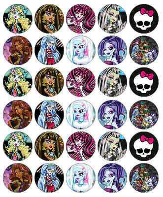 Monster High Cupcake Toppers Edible Wafer Paper BUY 2 GET 3RD FREE! ()