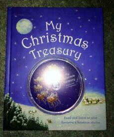 NEW My Treasury of Christmas Stories by Parragon (Hardback, 2006) Book & Audio CD