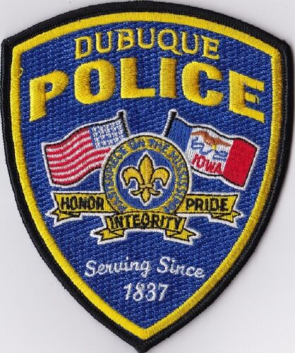 Dubuque Police Patch Iowa IA