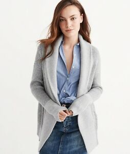 ABERCROMBIE & FITCH GREY OPEN CARDIGAN-NEW WITH TAGS!