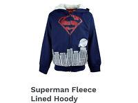 Superman fleece lined hoodie