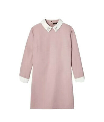NEW NWT Victoria Beckham For Target Shift Dress w Rabbit Accent Collar XL
