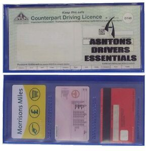 PLASTIC DRIVING LICENCE WALLET HOLDER COVER FOR PHOTO + PAPER LICENCE D740
