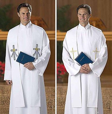 Reversible Baptismal and Wedding Stole for Clergy NEW KS558