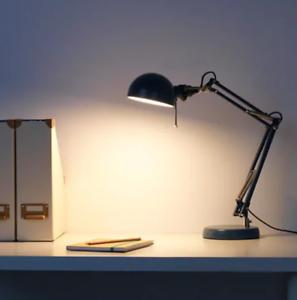 IKEA FORSÅ Work side table lamp, blue