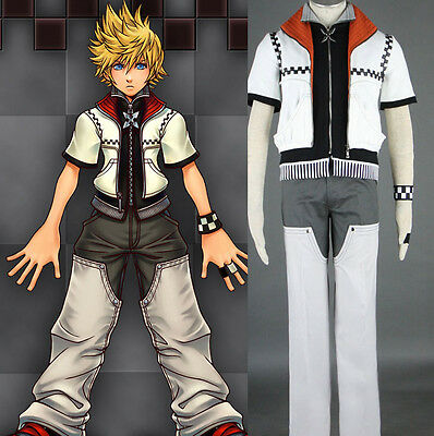 Kingdom Hearts Roxas Sora Cosplay costume Kostüm Kleidung set top neu Anzug - Roxas Kingdom Hearts Kostüm