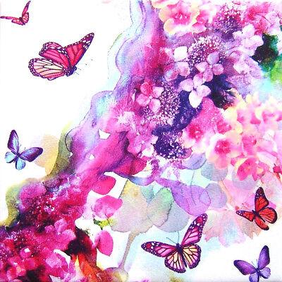 Deko Wandbild Sommertraum Blumen Blüten Schmetterlinge Geschenkidee Mitbringsel