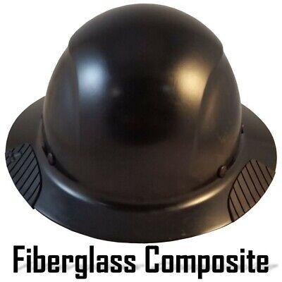 Dax Fiberglass Composite Lift Safety Full Brim Hard Hat - Factory Black