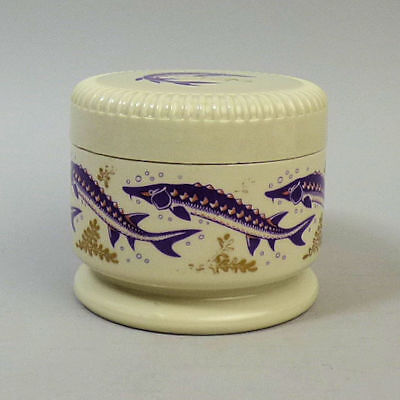 A SMALL WADE POTTERY CAVIAR POT FOR W.G. WHITE