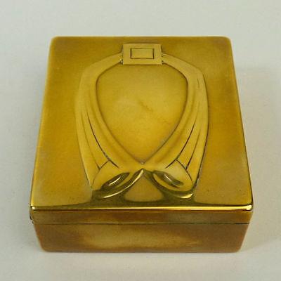 AUSTRIAN BRASS SECESSIONIST STAMP BOX C.1910