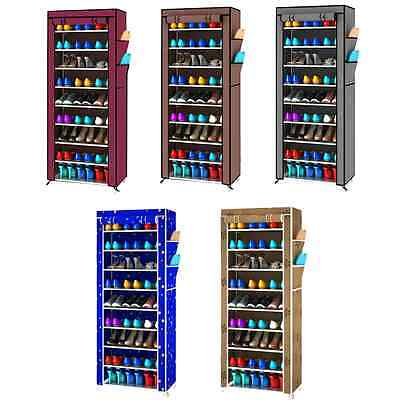 9 Layer Space Saving Shoe Closet  Rack Shelf Storage Organizer Cabinet Portable