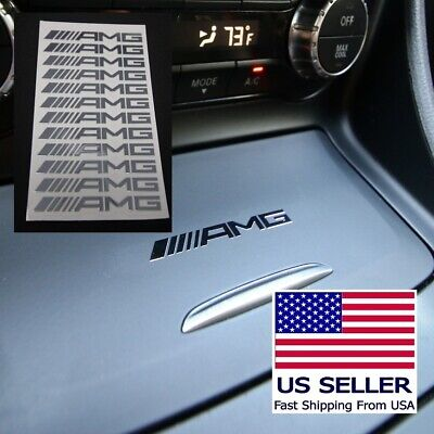 Set of 12 Mini Die Cut Decal Sticker Compatible with AMG Mercedes