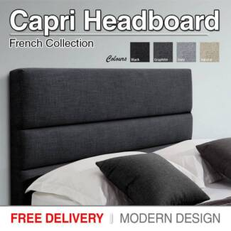 FREE DELIVERY - BRAND NEW Black King Size Upholstered Headboard