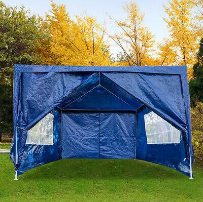 Heavy Duty Gazebo 3x4M Marquee Canopy Waterproof Garden Wedding Party Tent Blue