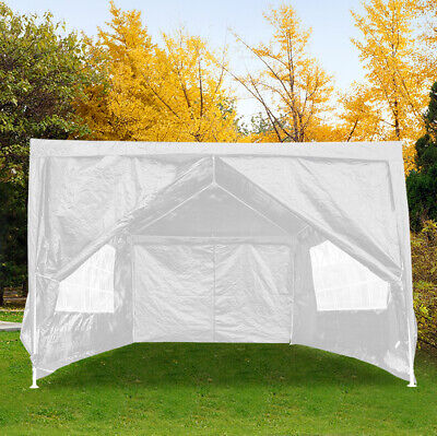 Heavy Duty Gazebo 3x4M Sides Waterproof Marquee Canopy Wedding Party Tent White
