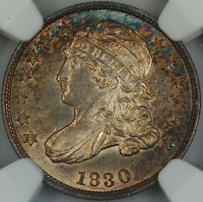Click now to see the BUY IT NOW Price! 1830 CAPPED BUST SILVER DIME NGC MS 62 TONED CHOICE BU COIN JJP