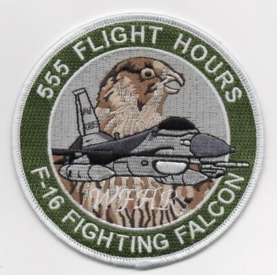 USAF Patch 555th FIGHTER SQ, 555th FLIGHT HOURS LOGGED, Morale patch 4