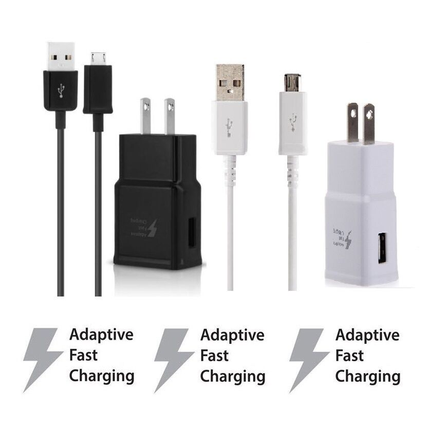 Adaptive Fast Rapid Wall Charger For Samsung Galaxy S6 S7 Ed