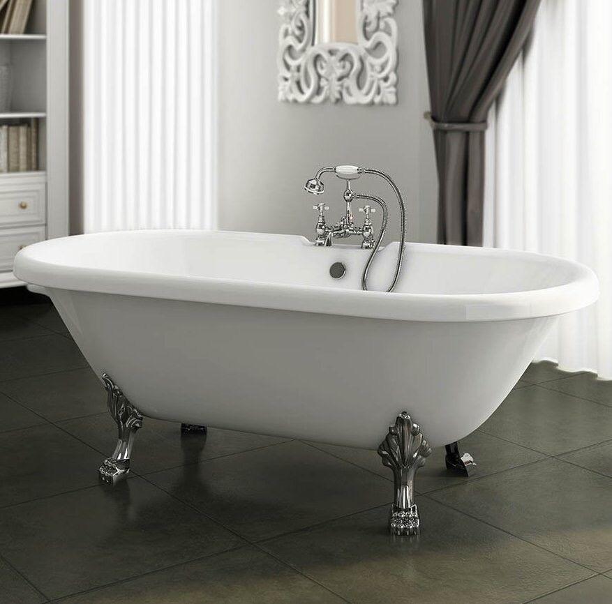 Brand New Free Standing Roll Top Bath Tub, Lion Feet Traditional ...