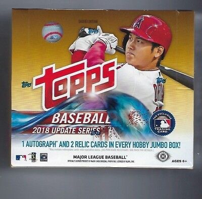 2018 Topps Update Series Baseball HTA Hobby Jumbo Box + 2 Silver Packs