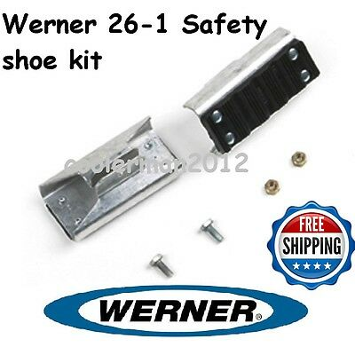 New Werner 26-1 - Replacement Shoe Feet Kit - Aluminum Extension Ladder Parts