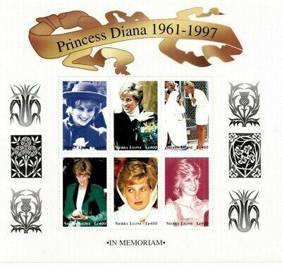 VINTAGE CLASSICS - Sierra Leone Princess Diana Memorial - Sheet Of 6 - MNH