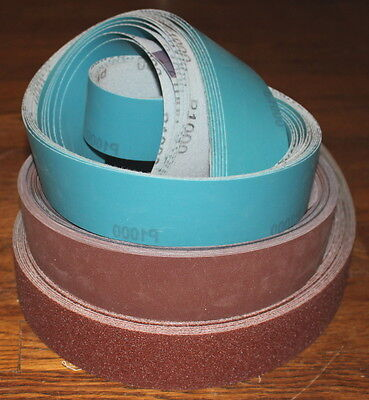 2 x 72 Knifemaker Sanding Belt Assortment Kit  45 Belts 5 belts of Each Grit  #2