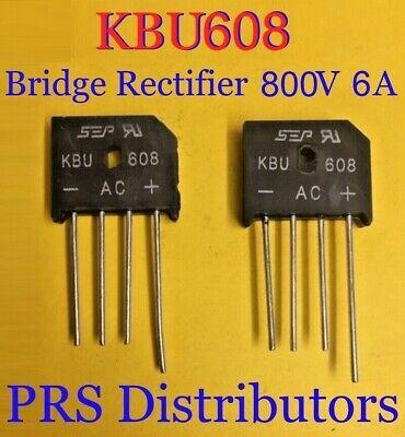 Kbu608 Diode Bridge Rectifier 6a 800v Replaces Kbu606 2 Pieces New Usa Seller