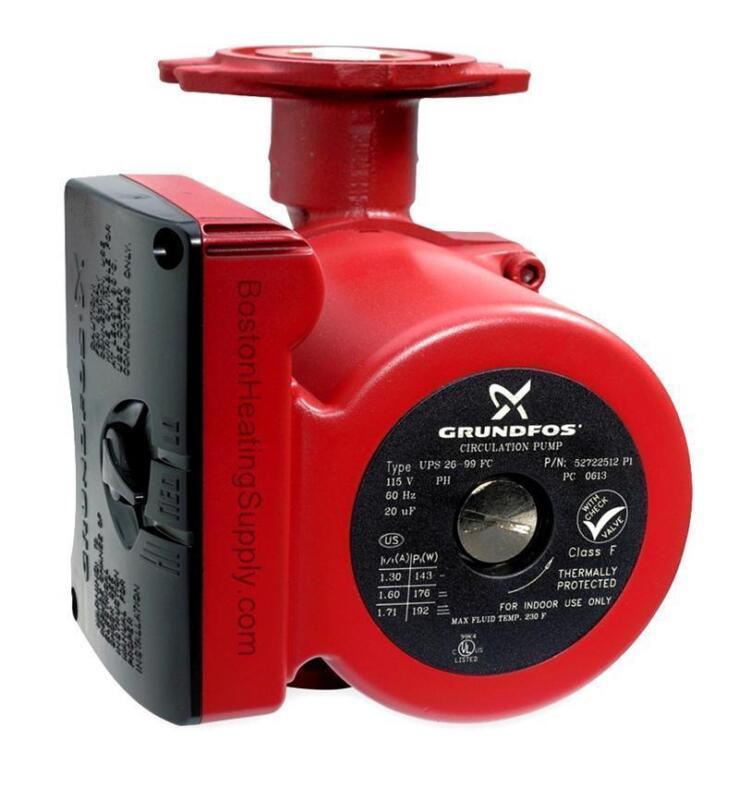 New Grundfos UPS26-99FC 115v Water Circulator Pump / Boiler Pump 1/6 HP 52722512