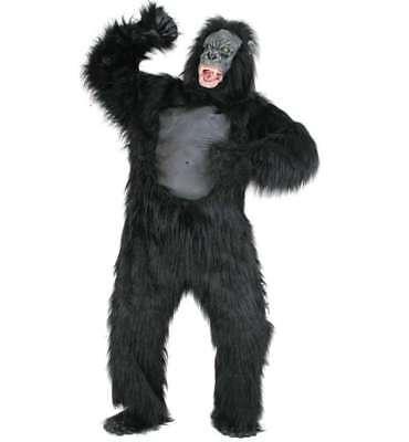 Gorilla Kostüm Deluxe Gr.M/XL Anzug, Kopf, Hände, Füße  Affe hochwertig - Gorilla Kopf Kostüm