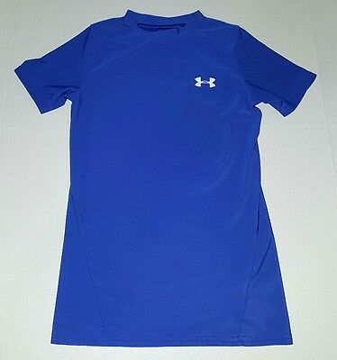 Under Armour Heat Gear Fitted YMD Medium Blue Shirt