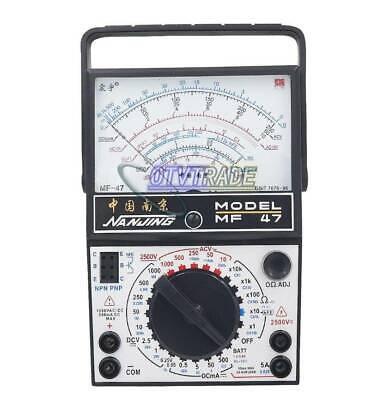1pcs Mf-47 Analog Multimeter Voltmeter Ammeter Ohmmeter Battery Tester New