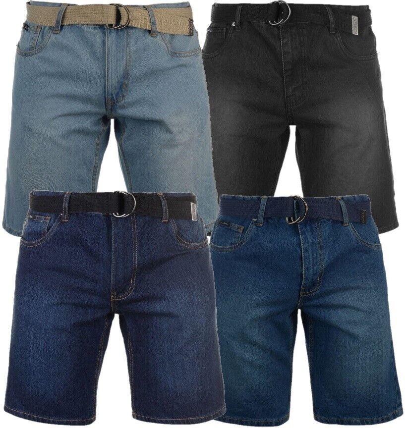 ✅ PIERRE CARDIN Herren kurze Jeans Hose Schwarz Blau Wash Sommer Freizeit Shorts