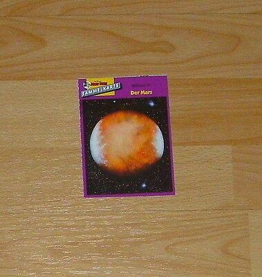 Micky Maus Sammelkarte - Weltraum III - Der Mars (90er)