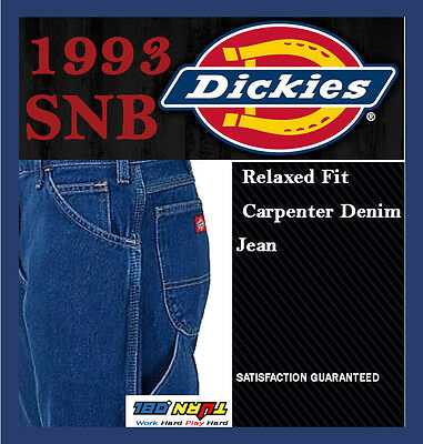 Stonewashed Jeans - Dickies denim 1993SNB Relaxed Fit Carpenter Jeans Medium Stone Washed 30~50