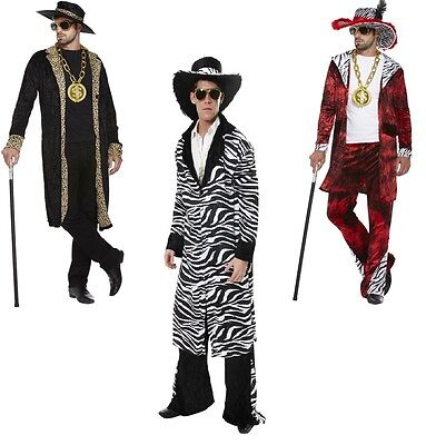 ADULT MENS 70S PIMP GANGSTER BIG DADDY WITH DOLLAR MEDALLION FANCY DRESS