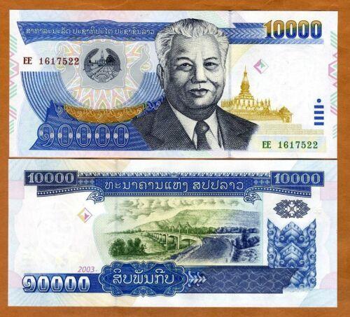 Lao / Laos, 10000 (10,000) Kip, 2003, P-35b, UNC