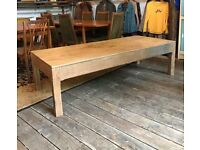 Very Large Oak Coffee Table