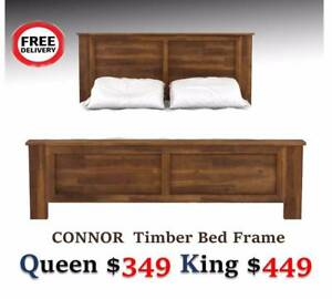 New Solid Timber Bed Frame/Mattress for Sale -Free Metro Delivery