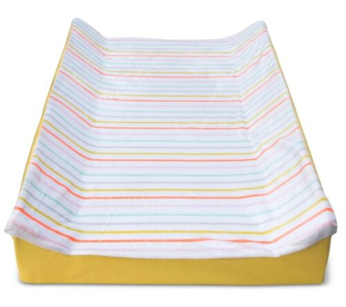 Cloud Island Changing Pad Cover Multi Color Rainbow Stripe White Yellow New
