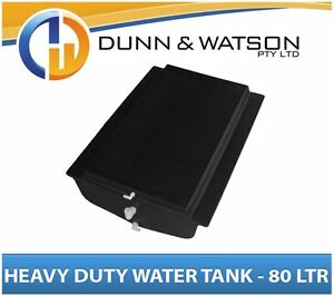 Heavy Duty 80 Litre Poly Water Tank - Camper Trailers, Caravans, 4x4's, 4wd's