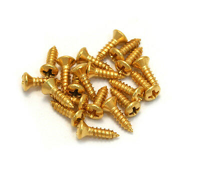 ((20) Gold #3 Pickguard Screws for Gibson® Guitar/Bass GS-0050-002)